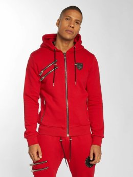 Horspist Sweat capuche zippé Carter rouge