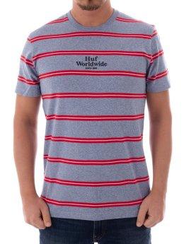HUF Camiseta Golden Gate Stripe SS Knit gris