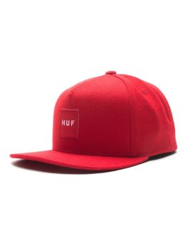 HUF Fitted Cap Box Logo rot