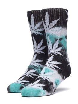 HUF Socken Swirl Tye Die Plantlife blau