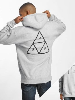 HUF Sweat capuche Triple Triangle gris