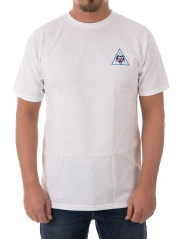 HUF T-Shirt Felix Triple Triangle blanc