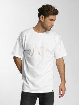 HUF T-Shirt Pink Panther Box Logo Apparel weiß