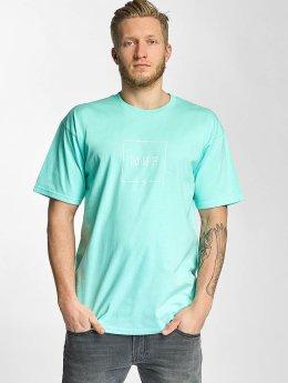 HUF T-shirts Box Logo Puff blå