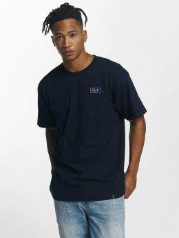 HUF T-shirts Gradient Bar Logo blå