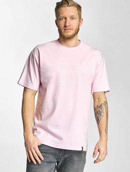 HUF T-shirts Box Logo Puff rosa