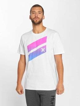 Hurley T-Shirt Premium Icon Slash Gradient blanc