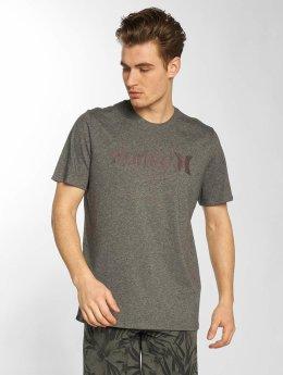Hurley T-Shirt Circle Icon grau