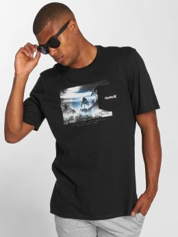 Hurley t-shirt Whitewater Pocket zwart