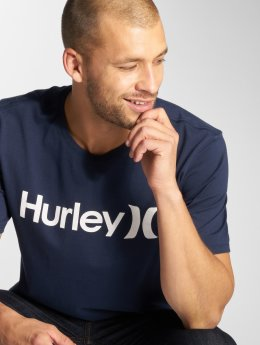 Hurley T-Shirty One & Only Solid niebieski