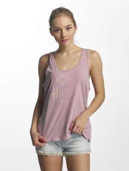Hurley Tank Tops Palm Script Perfect roosa