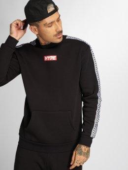 HYPE Пуловер Checker Tape черный