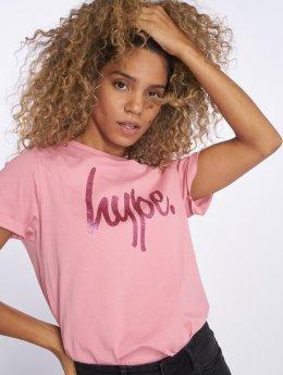 HYPE Camiseta Glitter fucsia