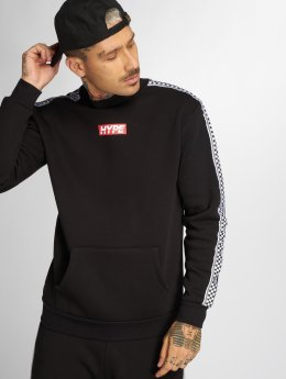 HYPE Pullover Checker Tape black