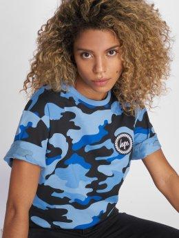 HYPE T-shirt Camo Drop Shoulder blå