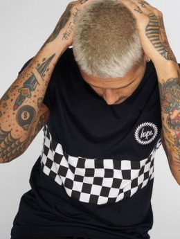HYPE t-shirt Checker Board blauw