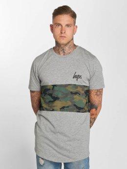 HYPE T-Shirt Camo Panel gris