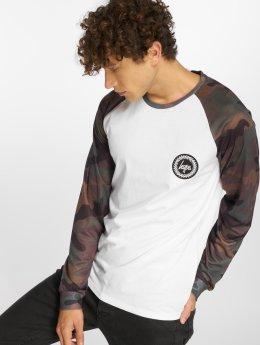 HYPE T-Shirt manches longues Camo Crest blanc