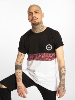 HYPE T-Shirt Centre Rose noir