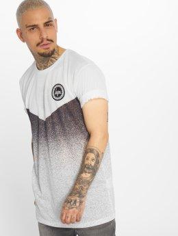 HYPE T-Shirt Chevron weiß