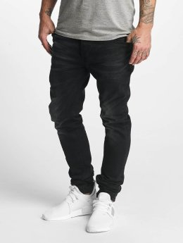ID Denim Straight Fit Jeans Skinny Low Rise Tapered Leg svart