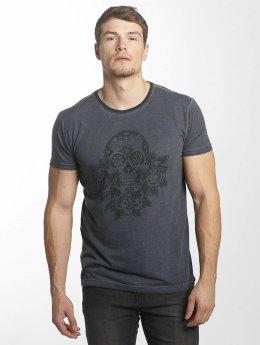 Indicode T-Shirt Foggia Box blue