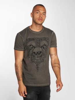Indicode T-Shirt Foggia Box grau