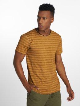 Indicode T-Shirty Imrane brazowy
