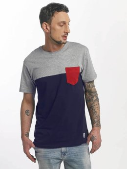 Iriedaily T-Shirt Block Pocket II blau
