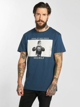 Iriedaily T-Shirt Hard Knock Fitted blau