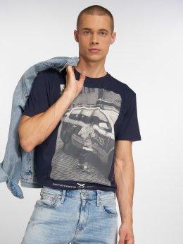Iriedaily T-Shirt Pissizei  blau
