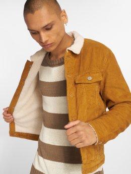 Jack & Jones Демисезонная куртка Jjialvin Jjsherpa Corduroy коричневый