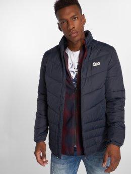 Jack & Jones Демисезонная куртка jorBend Stand Collar синий