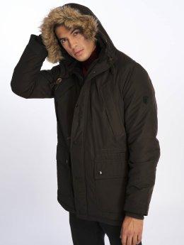 Jack & Jones Зимняя куртка  коричневый