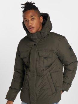 Jack & Jones Зимняя куртка jcoNew Will оливковый