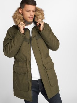 Jack & Jones Зимняя куртка jcoEarth оливковый