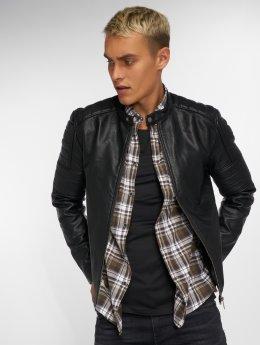 Jack & Jones Кожаная куртка jcoRacer черный