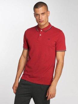 Jack & Jones jjeContrast Stripe Polo Shirt Brick Red