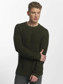 Jack & Jones Пуловер jorPannel Knit зеленый