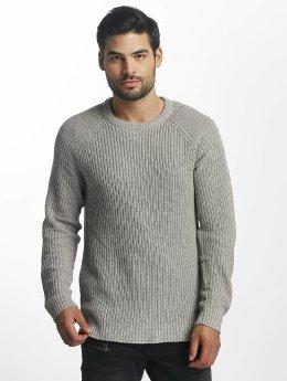 Jack & Jones jorPannel Knit Sweater Light Grey Melange