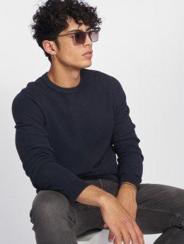 Jack & Jones Пуловер jjeStructure Knit синий