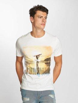Jack & Jones jorPolaroids Crew Neck T-Shirt Cloud Dancer Beach