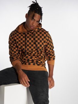 Jack & Jones Bluzy z kapturem Jorchecker brazowy