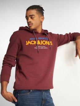 Jack & Jones Bluzy z kapturem jcoJacob czerwony
