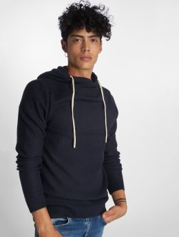 Jack & Jones Bluzy z kapturem jorEris Knit niebieski