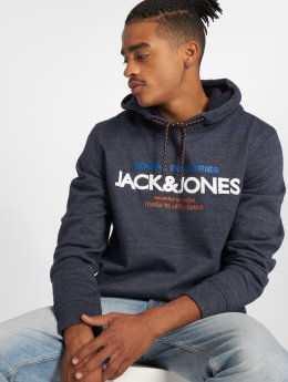 Jack & Jones Bluzy z kapturem jcoJacob niebieski