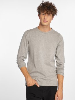Jack & Jones Camiseta de manga larga Basic gris