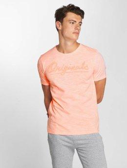 Jack & Jones jorFlurosloth Crew Neck T-Shirt Neon Peach