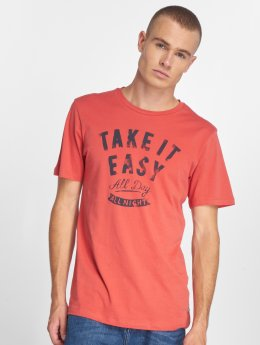 Jack & Jones Camiseta jorSmoky rojo