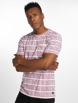 Jack & Jones Camiseta jorTexturestripe rojo